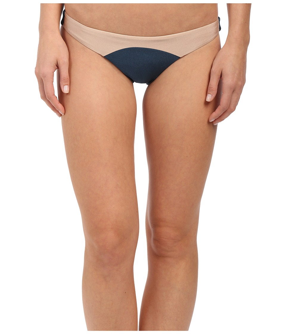 Amuse Society - Sara Color Block Skimpy Fit Bottom (Indy Blue) Women's Swimwear