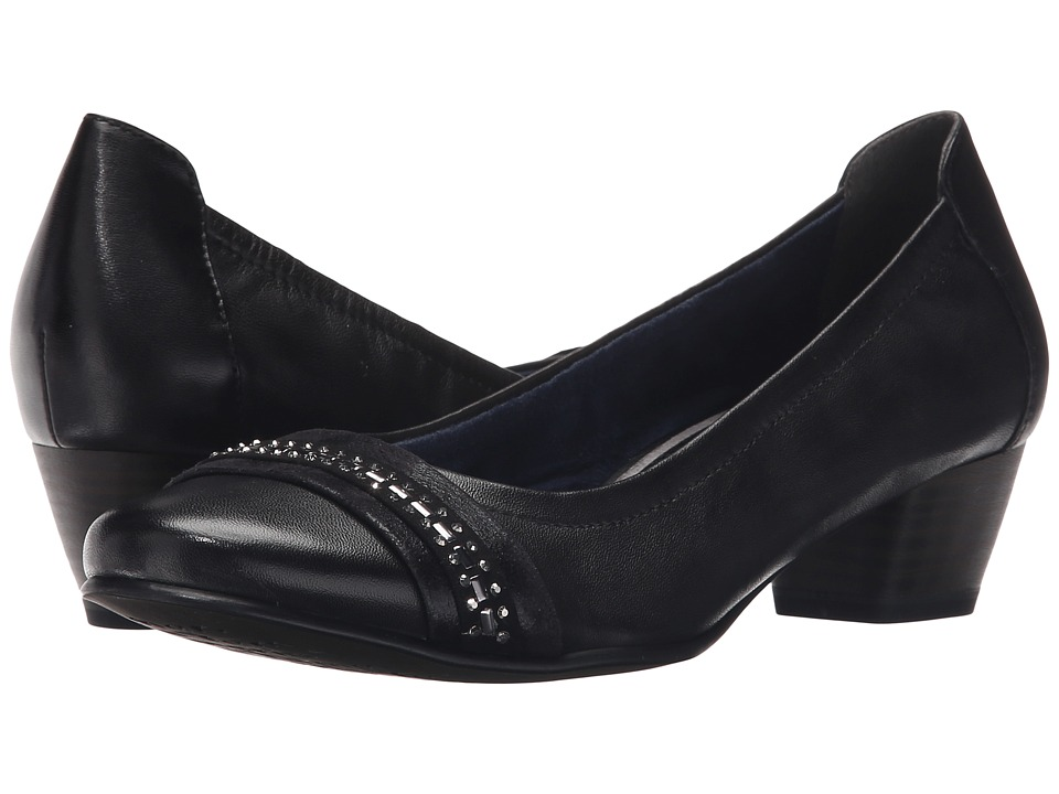 Tamaris - Anisa 22303-26 (Black) Women's 1-2 inch heel Shoes