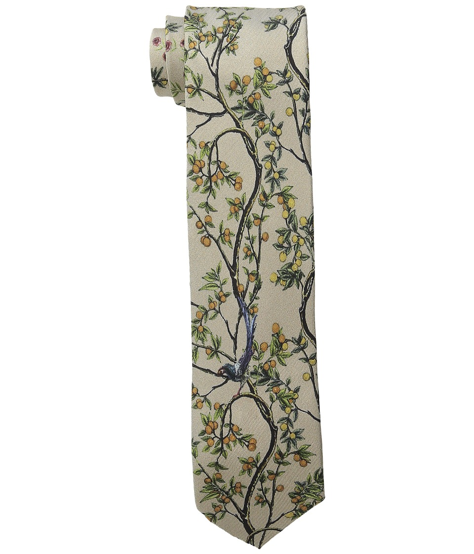 Dolce & Gabbana - Nature Patterend Classic Silk Tie (Natural) Ties