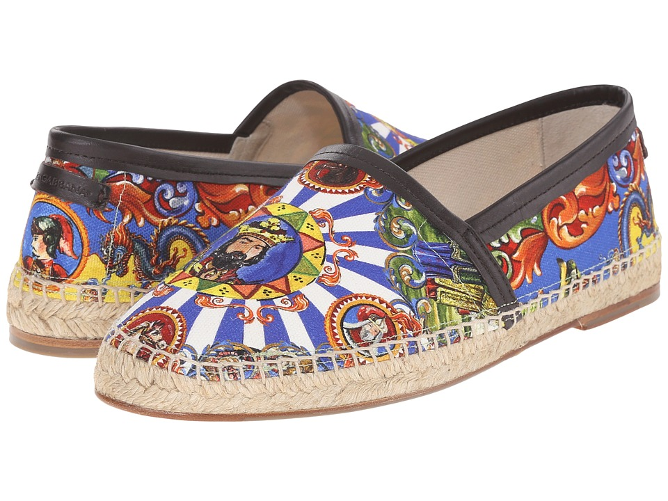 Dolce & Gabbana - Espadrillas (Multi/Tan) Men's Slip on Shoes