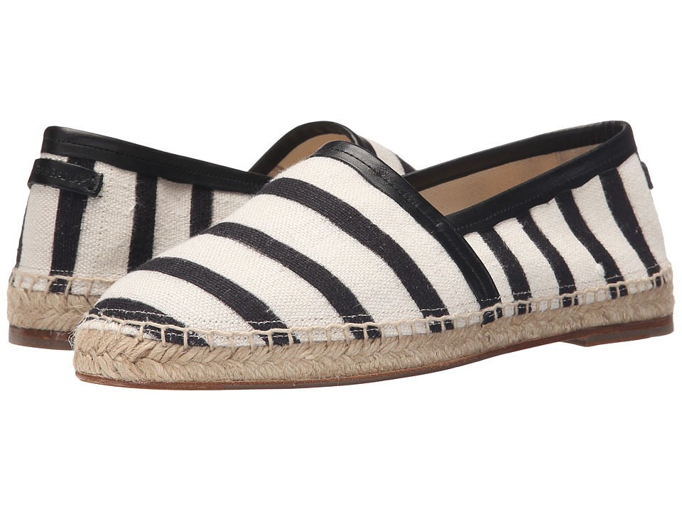 Dolce & Gabbana - Espadrillas (Black/White) Men's Slip on Shoes