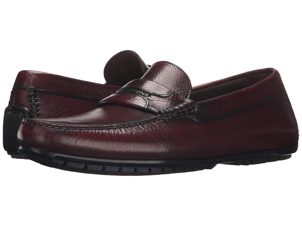 Dolce & Gabbana - Leather Moccasins (Dark Plum) Men's Slip on Shoes