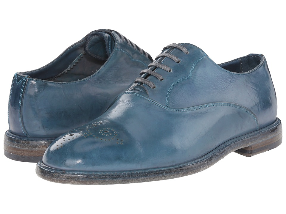 Dolce & Gabbana - Dip-Dyed Calfskin Oxford Shoe (Light Blue) Men's Lace up casual Shoes
