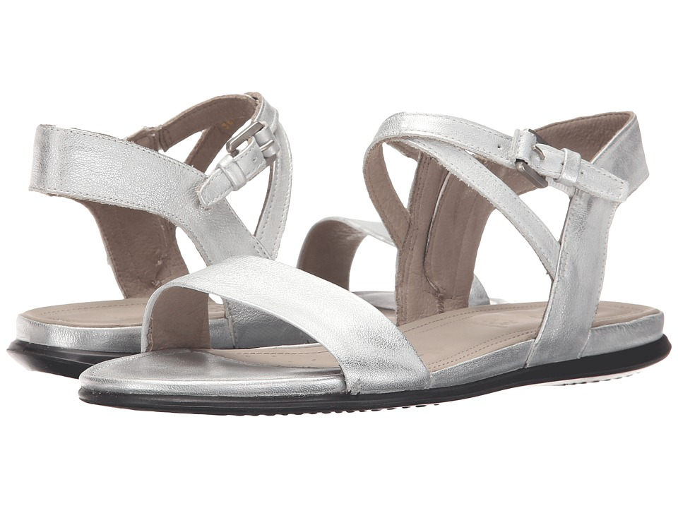 ECCO - Touch Ankle Sandal (Silver) Women's Sandals
