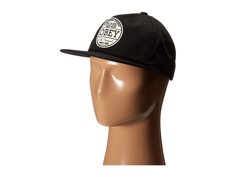Obey - Deuce Snapback (Black) Caps