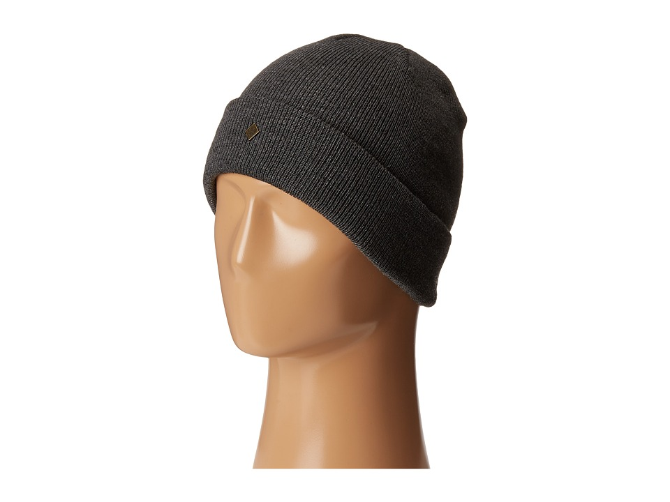 Obey - Essentials Beanie (Heather Charcoal) Beanies