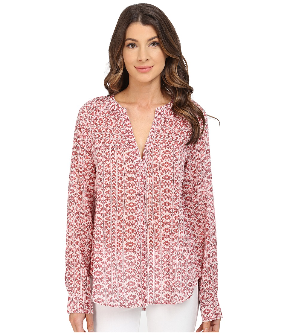 Paige - Jobeth Blouse (White/Bruschetta) Women's Blouse