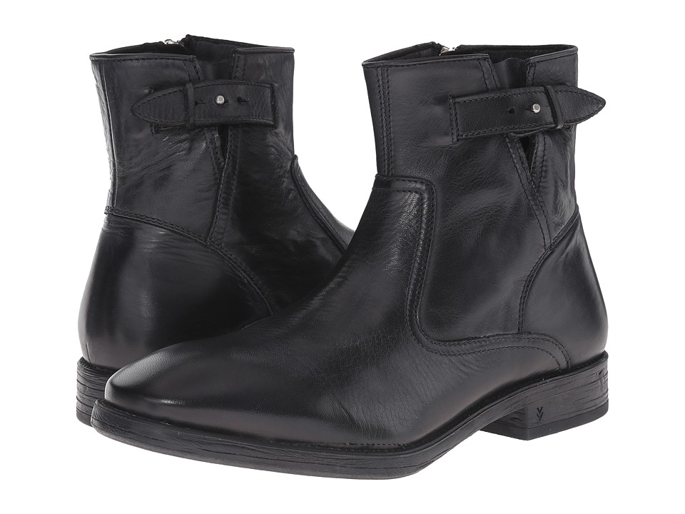 John Varvatos - Bleeker Zip Boot (Black) Men's Zip Boots