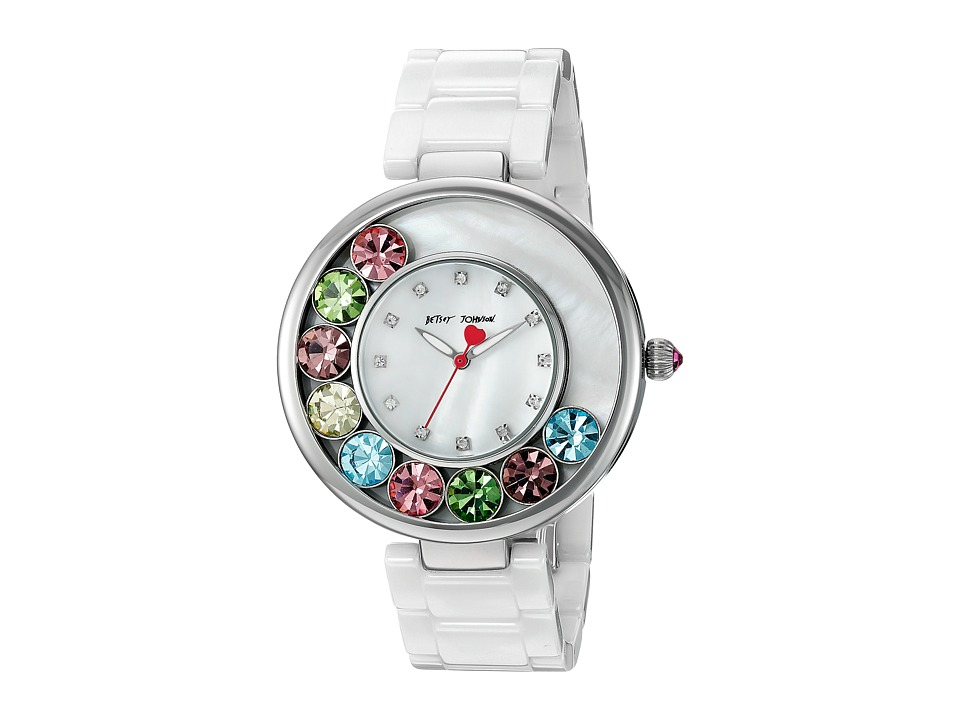 Betsey Johnson - BJ00578-01 - Ceramic Rainbow (White/Multi) Watches