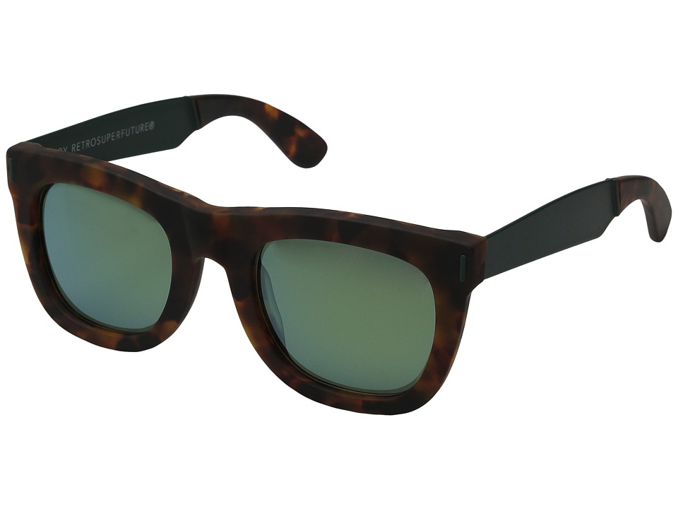 Super - Ciccio Francis Squadra (Tortoise/Green) Fashion Sunglasses