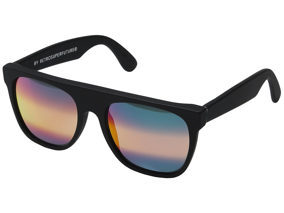 Super - Flat Top M3 (Black Matte/Rainbow Ombre Mirror) Fashion Sunglasses
