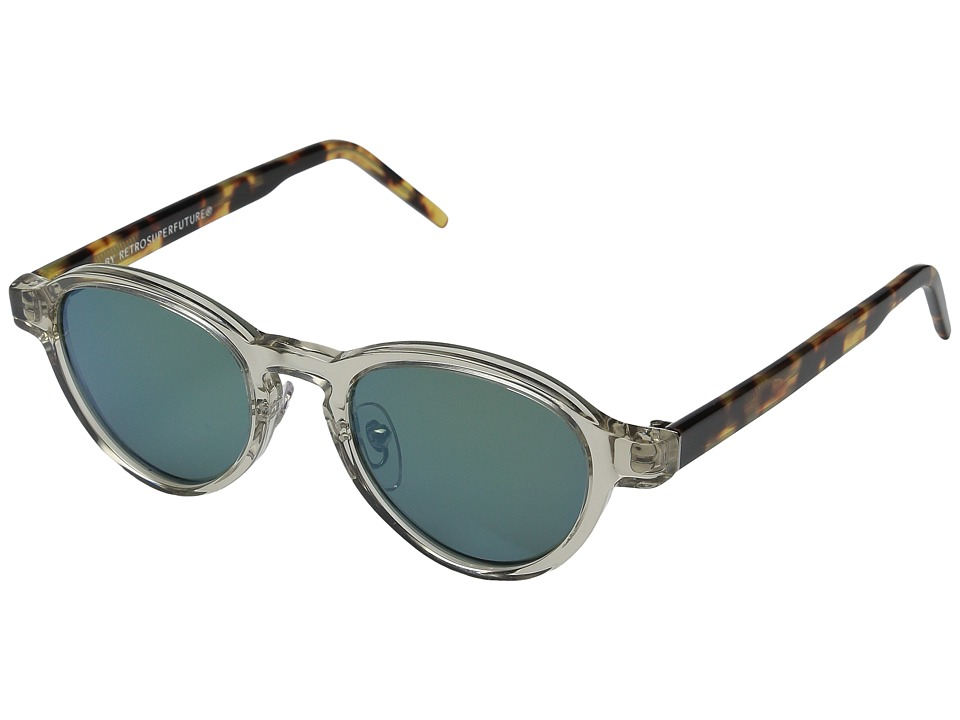 Super - Versilia Sportivo (Clear/Tortoise/Green) Fashion Sunglasses