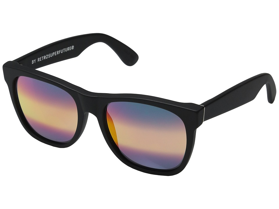 Super - Classic M3 (Black Matte/Rainbow Ombre Mirror) Fashion Sunglasses