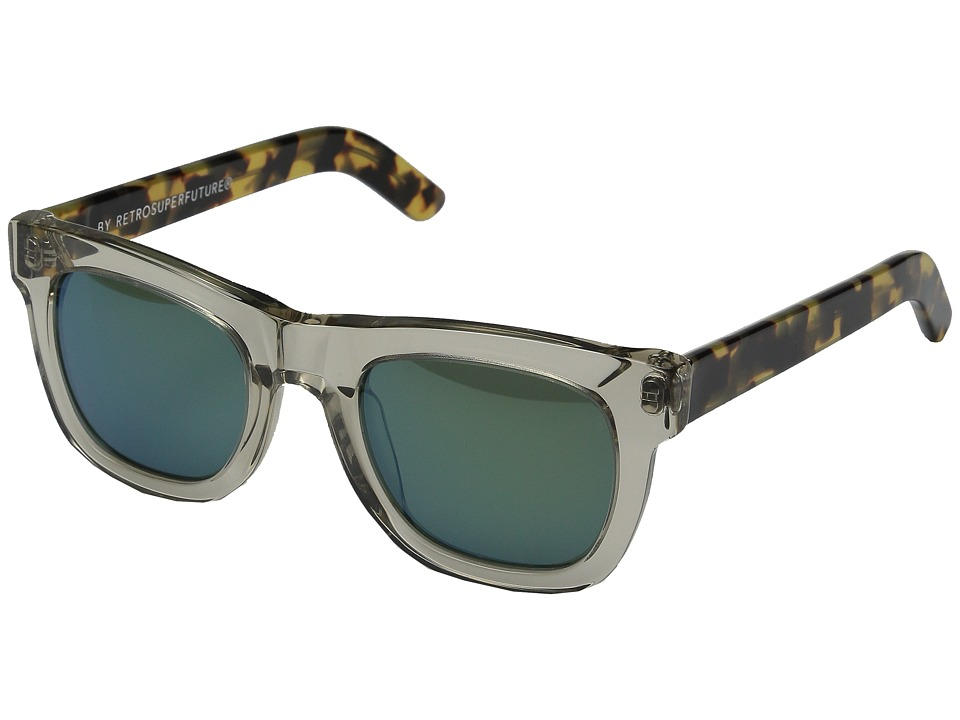 Super - Ciccio Sportivo (Clear/Tortoise/Green) Fashion Sunglasses