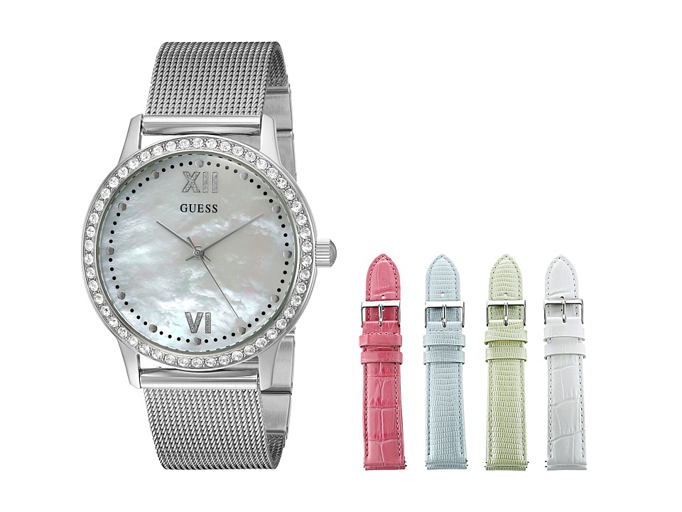 GUESS - U0785L1 (Silver/White/Light Green/Light Blue/Pink) Watches