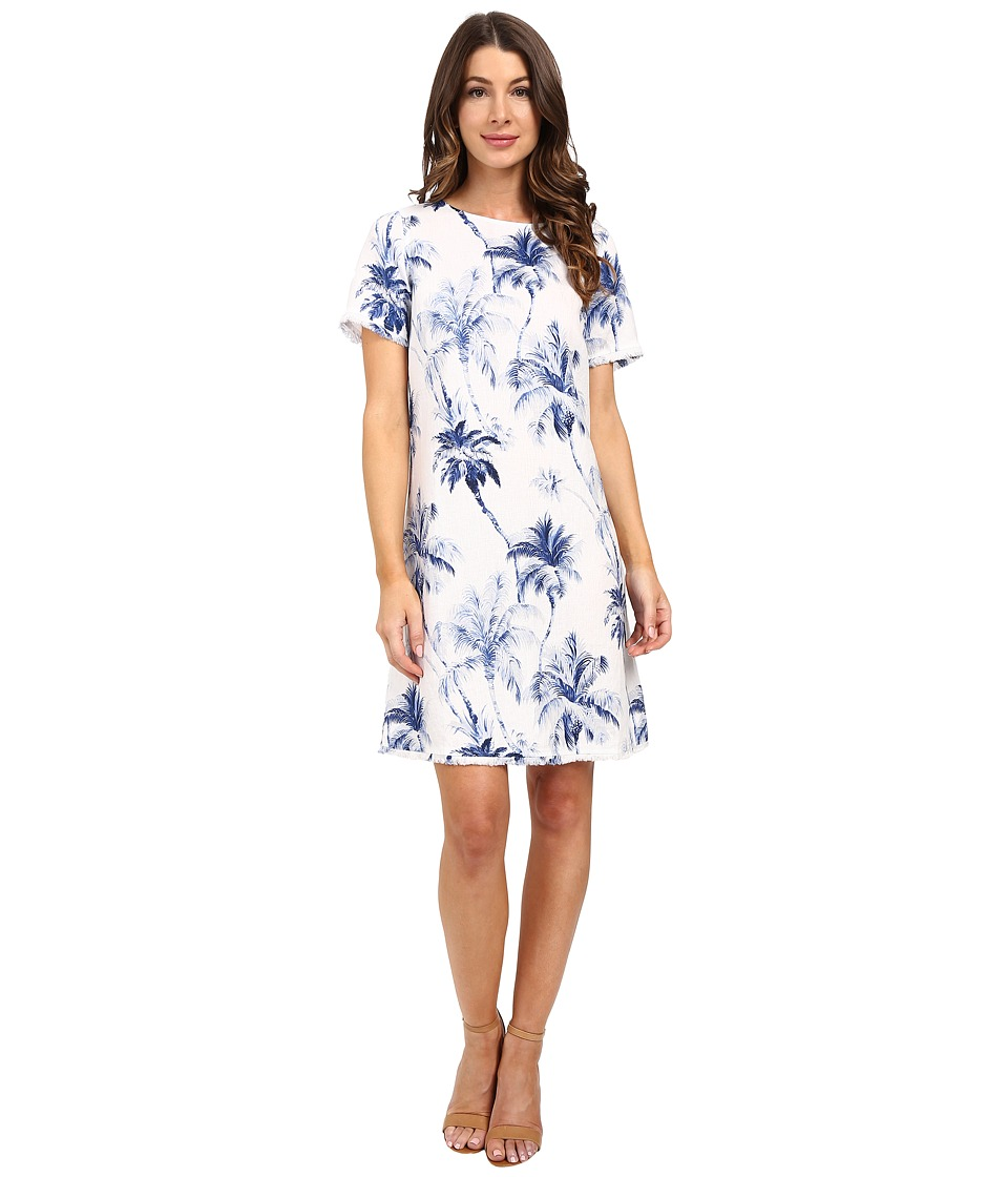 Tommy Bahama - Art of Palms Shirtdress (Cobalt Haze) Women's Dress