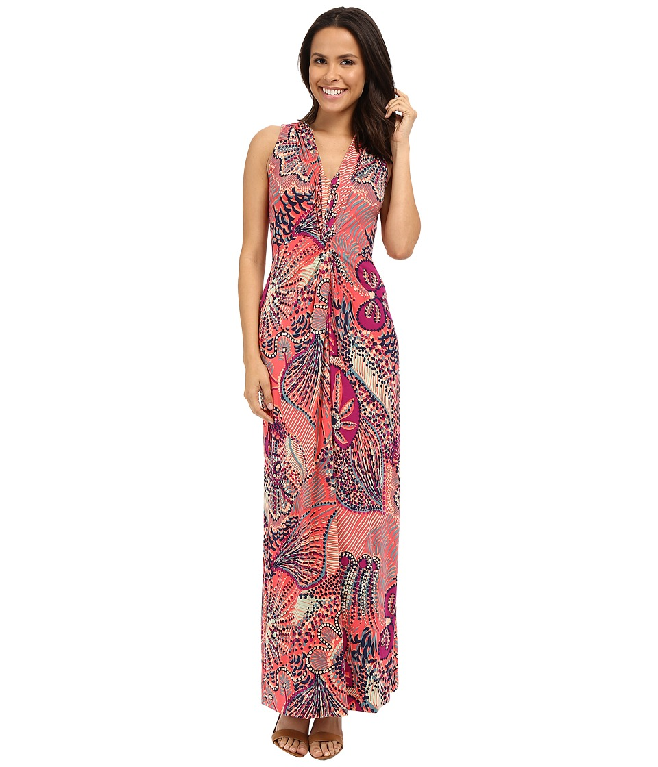 Tommy Bahama - Carnival Lights Long Dress (Bright Coral) Women's Dress
