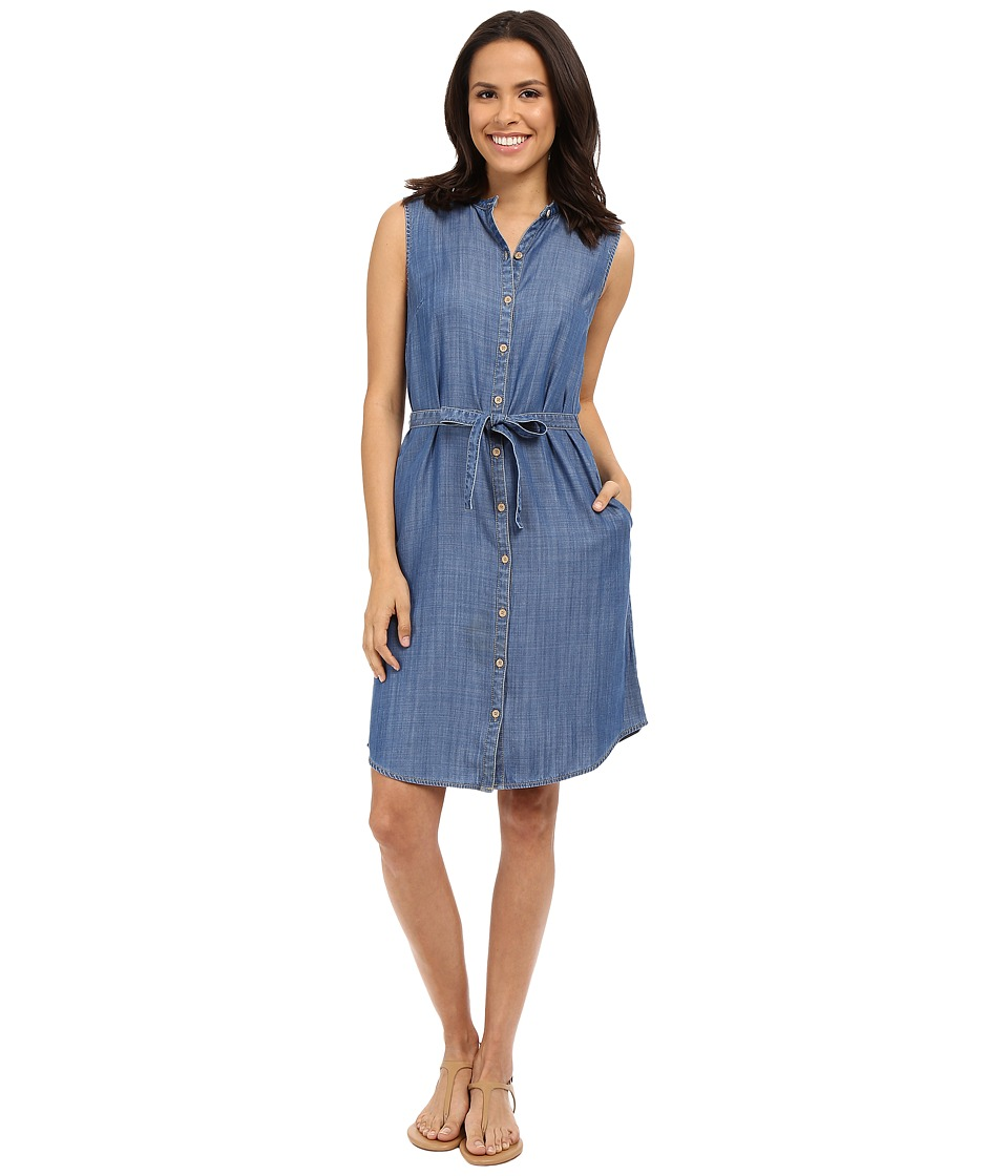 Tommy Bahama - Chambray All Day Sleevless Dress (Medium Worn Wash) Women's Dress