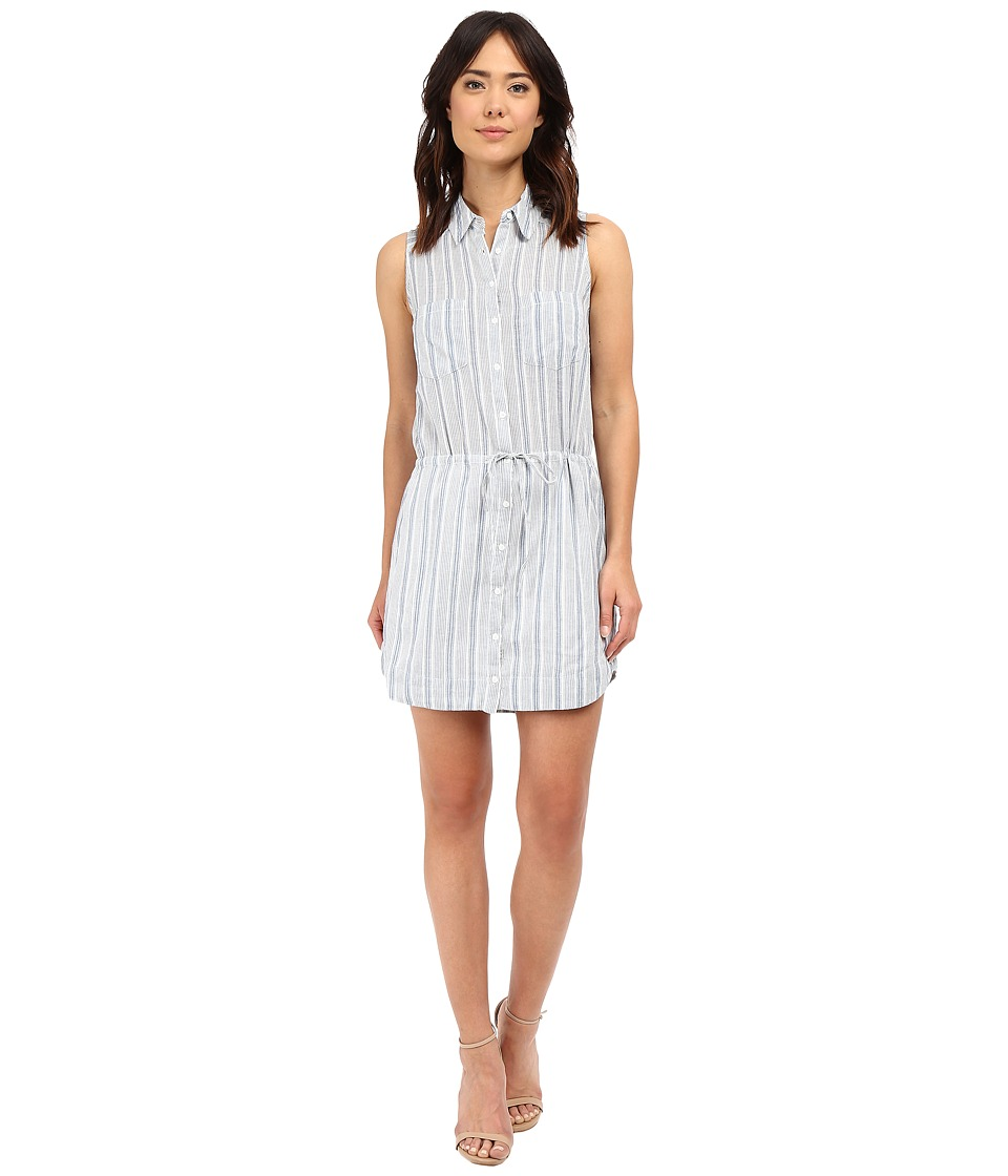 Paige - Yvonne Shirtdress (White/Nocturnal) Women's Dress