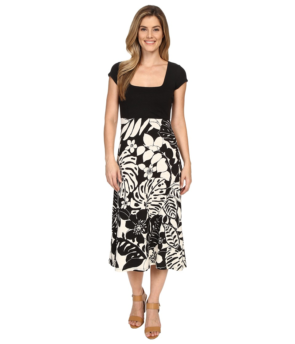 Tommy Bahama - Leaf Relief Midi Dress (Black) Women's Dress
