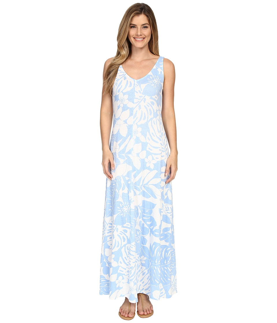 Tommy Bahama - Leaf Relief Long Dress (Chambray Blue) Women's Dress