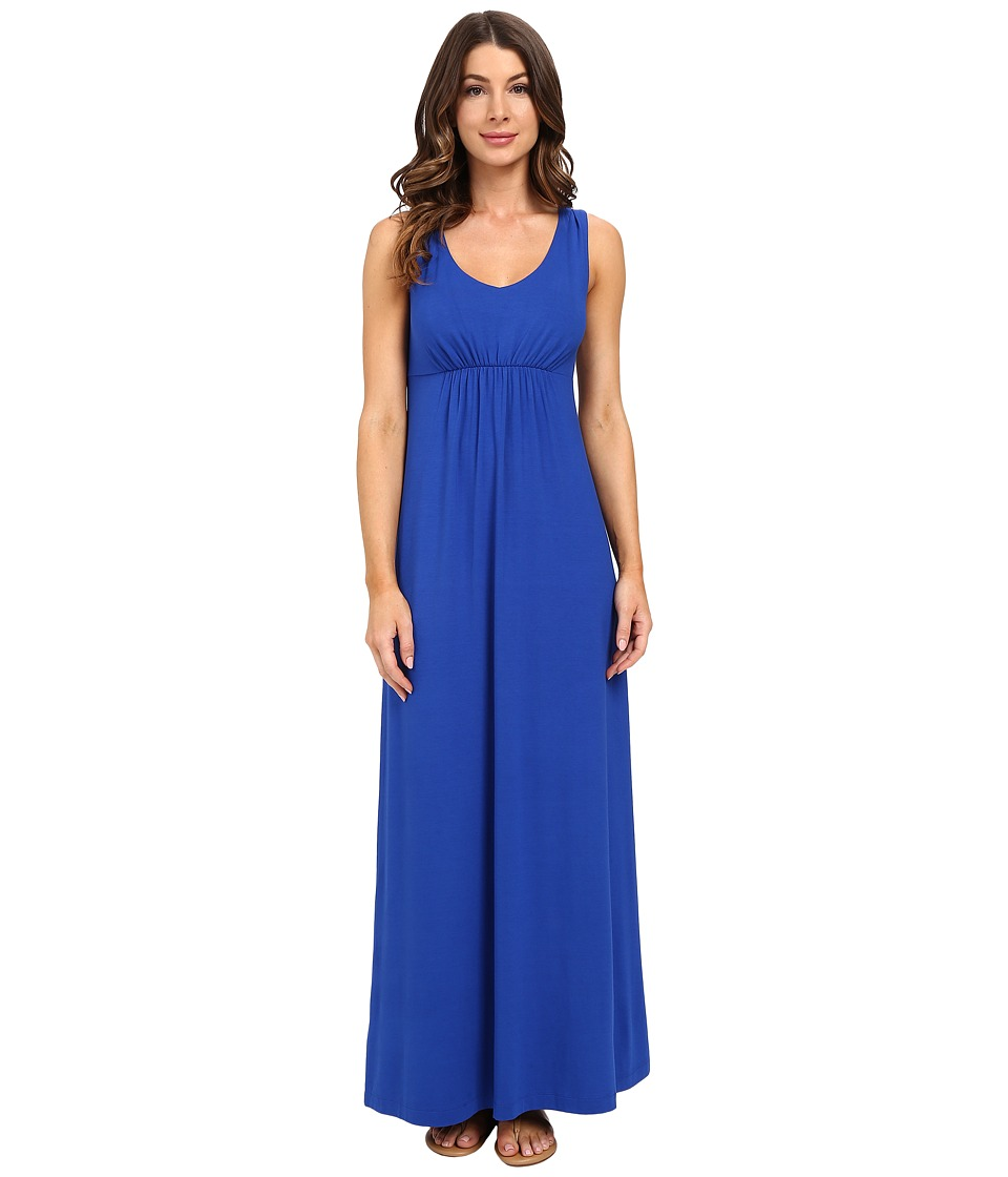 Tommy Bahama - Tambour V-Neck Maxi Dress (Cobalt Haze) Women's Dress