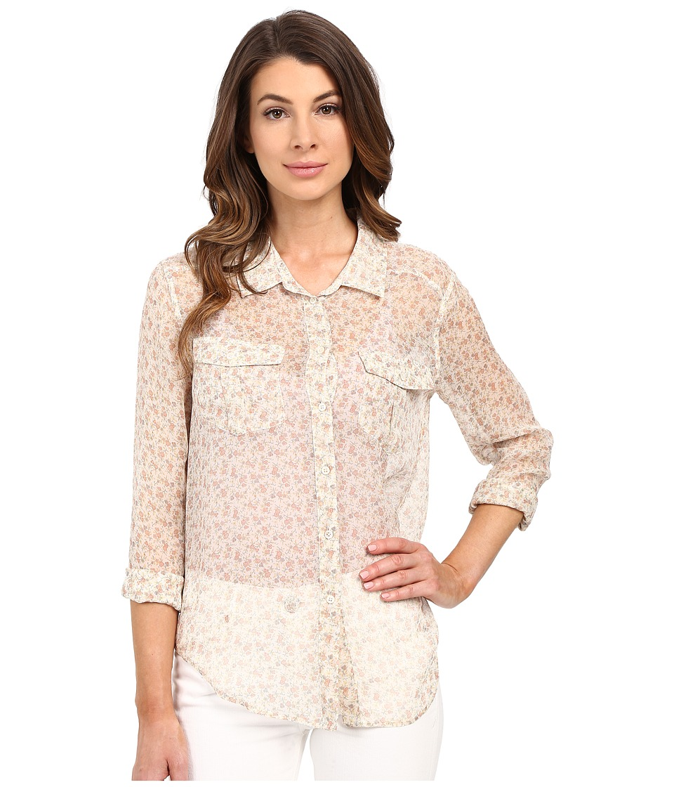 Paige - Mya Shirt (White/Rose Dust/Tawny Orange) Women's Clothing