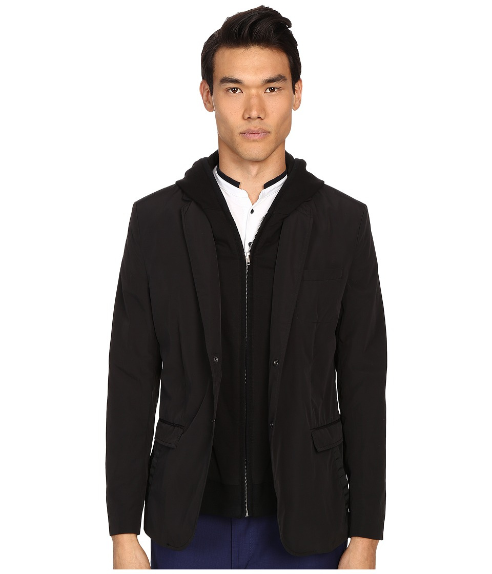 The Kooples - Sport Flex Dull Jacket (Black) Men's Coat