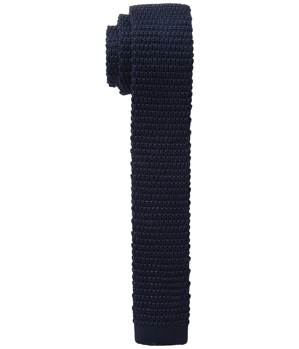 The Kooples - Knitted Silk Tie (Navy) Ties