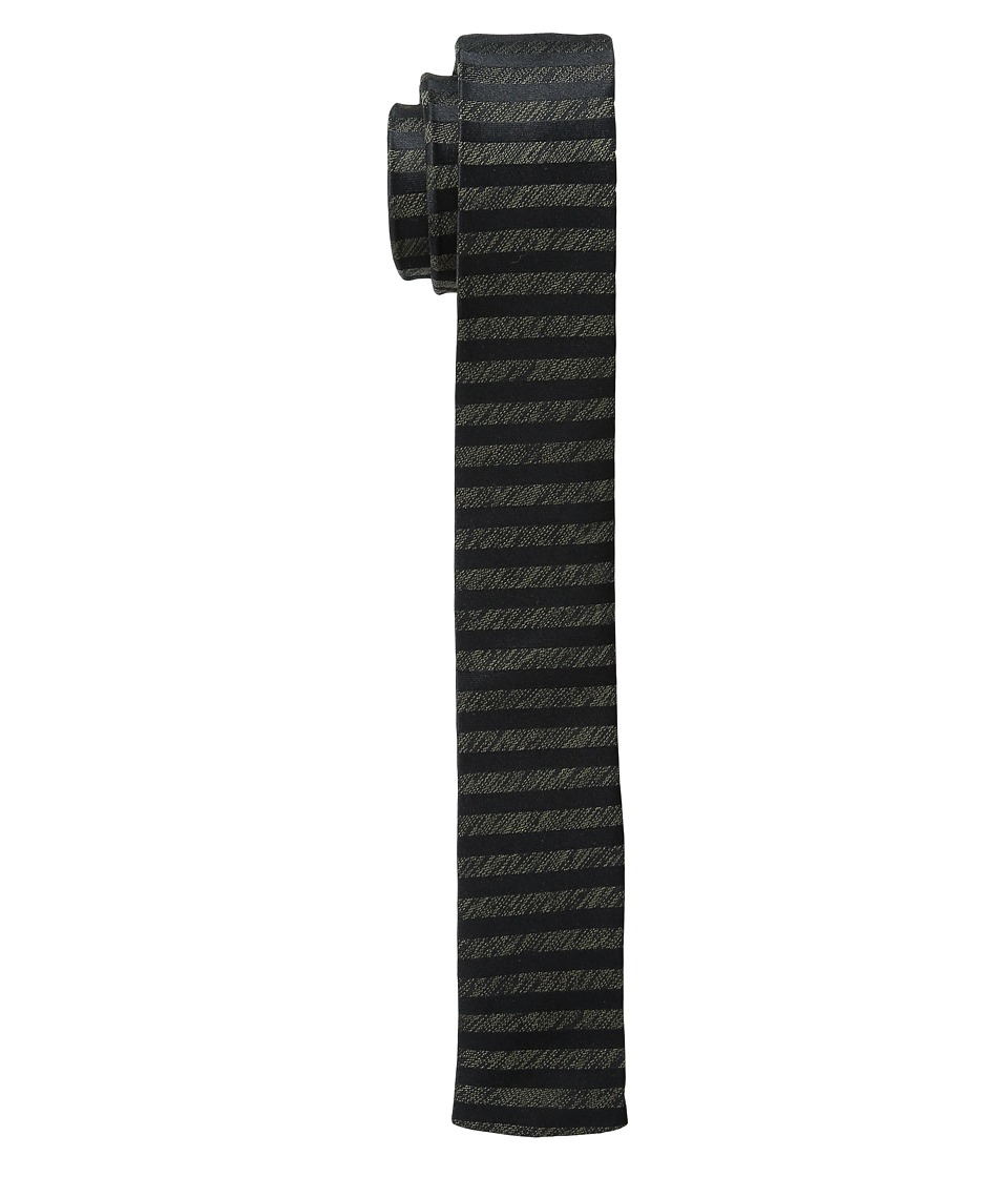 The Kooples - Stripes Jacquard Tie (Black) Ties