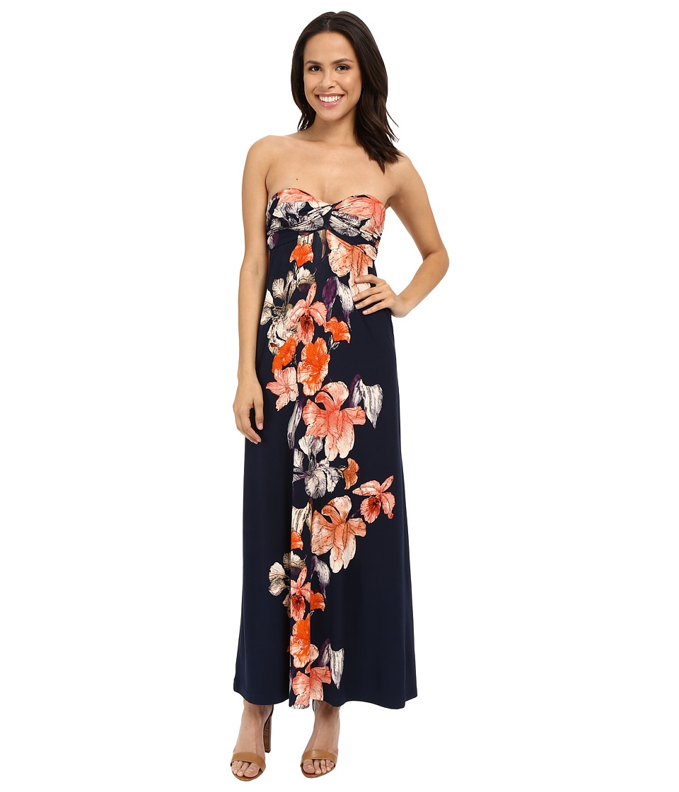 Tommy Bahama - Le Grande Fleur Strapless Dress (Ocean Deep) Women's Dress