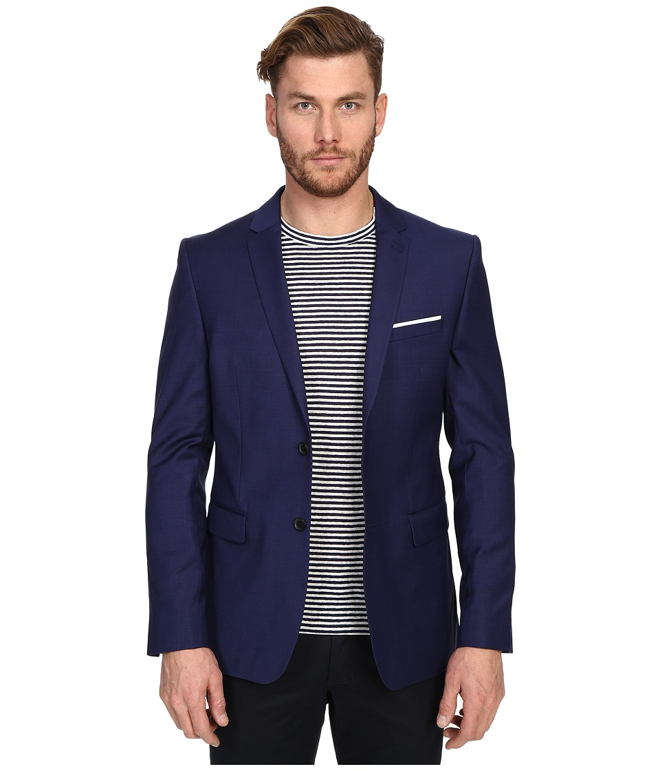 The Kooples - Fil A Fil Jacket (Blue) Men's Jacket