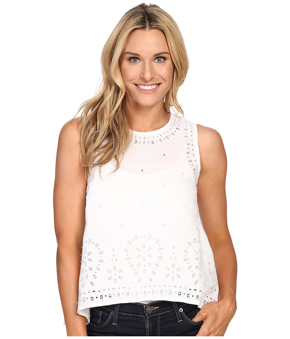 Tommy Bahama - Peaceful Leaves Tank Top (White) Women's Sleeveless
