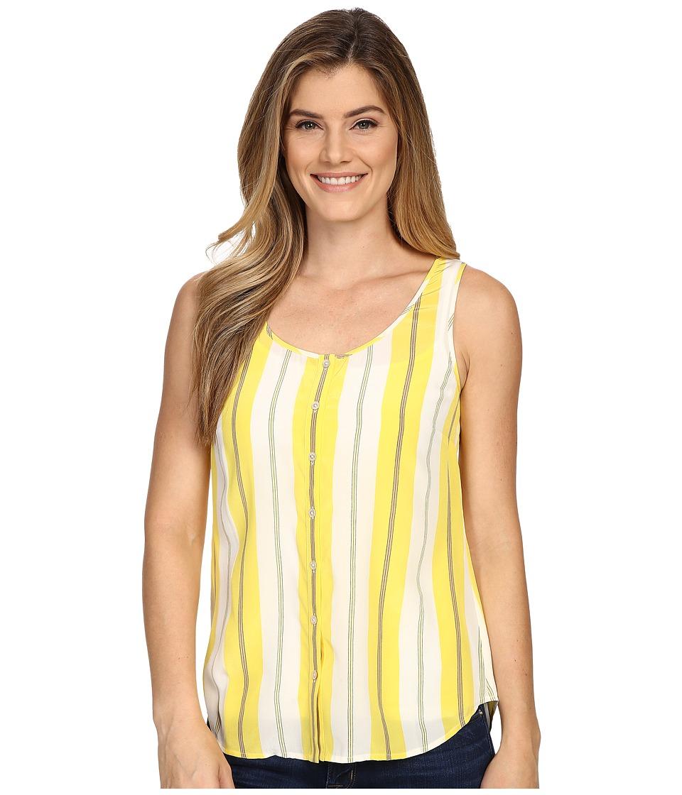 Tommy Bahama - Chappel Stripe Button Tank Top (Lemon Meringue) Women's Sleeveless