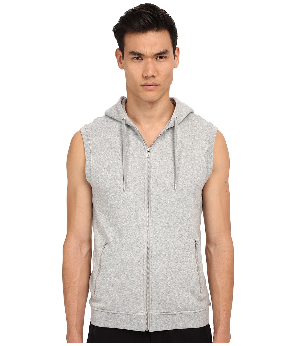 The Kooples - Sport Light Mixed Cotton Sweater (Grey) Men