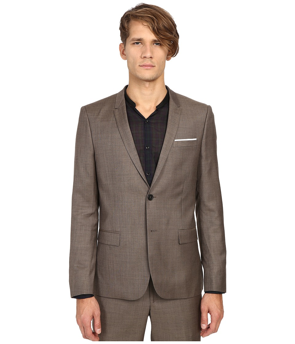 The Kooples - Braided Wool Jacket (Beige) Men's Jacket
