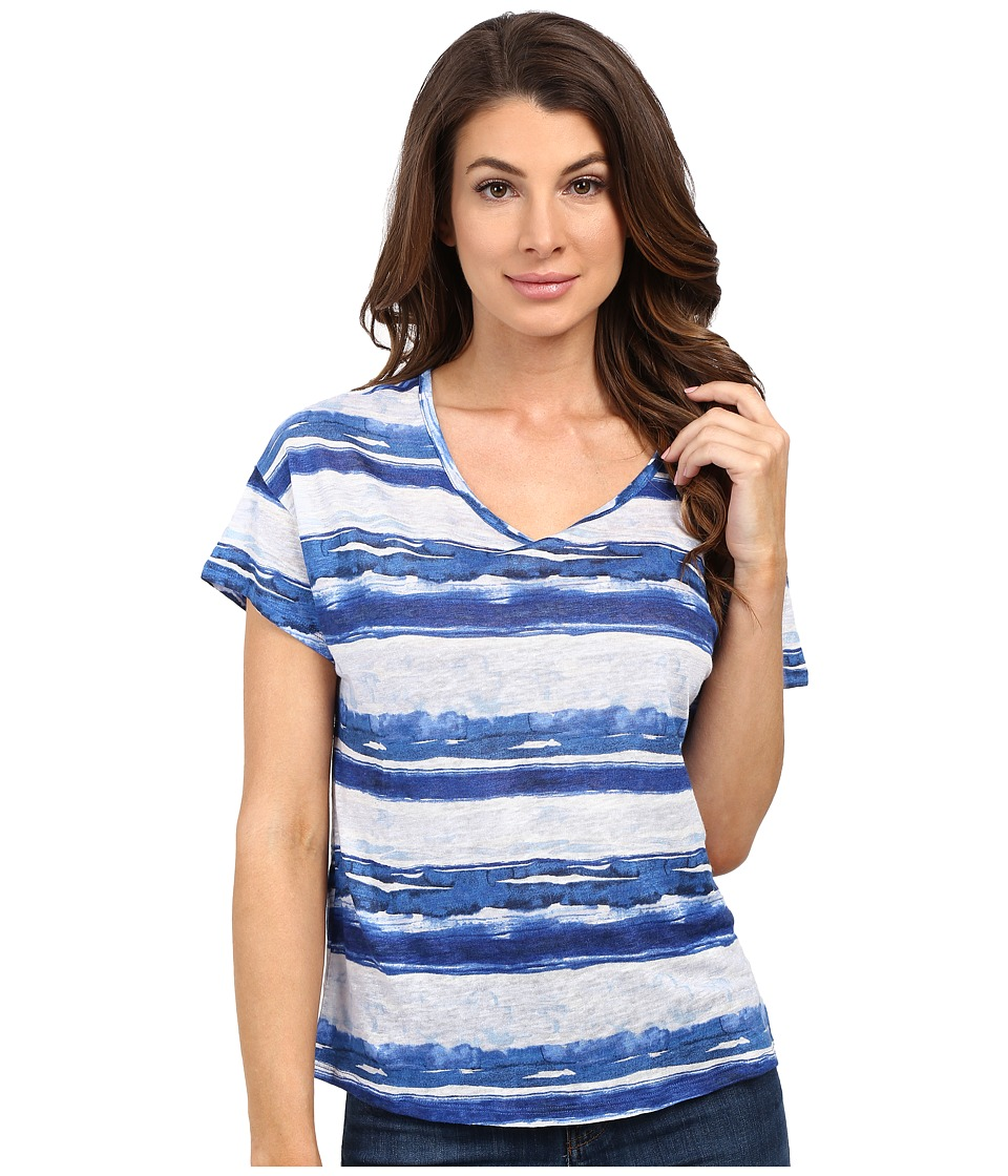 Tommy Bahama - Watercolor Waves Tee (Cobalt Haze) Women's T Shirt