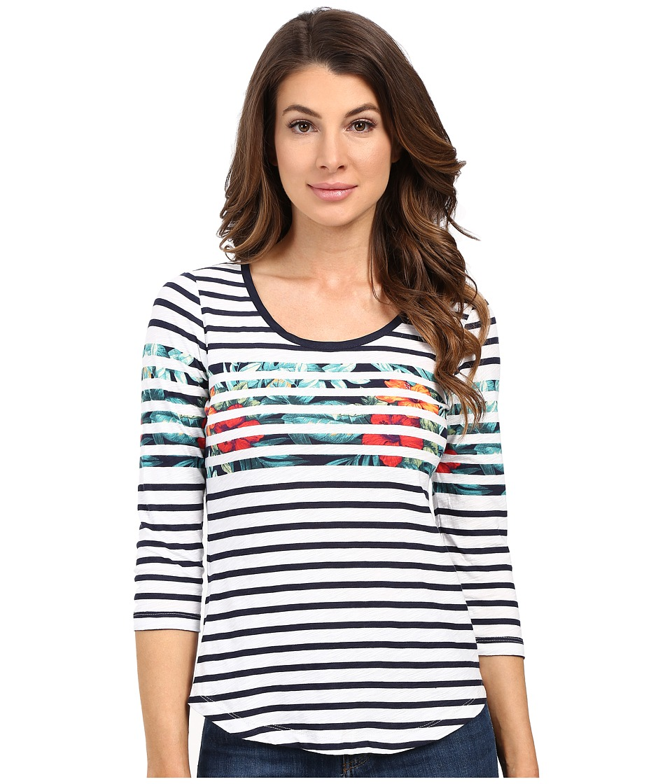 Tommy Bahama - Breton Blooms 3/4 Sleeve Tee (White) Women's T Shirt