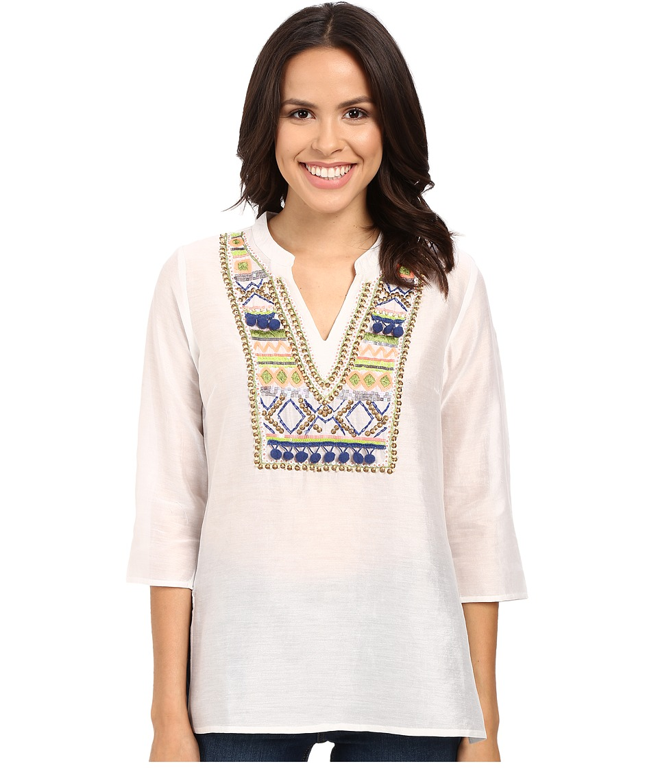 Tommy Bahama - Castello Voille Tunic (White) Women's Blouse