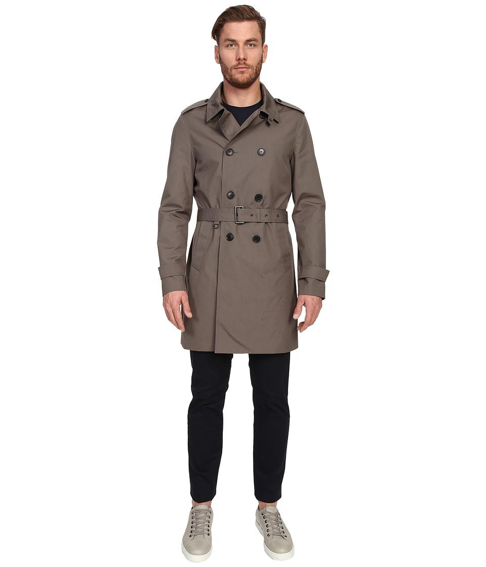 The Kooples - Mentone Cotton Coat (Khaki) Men's Coat