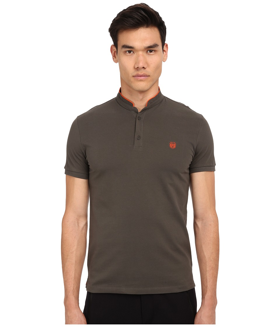 The Kooples - Sport Shiny Pique Polo (Khaki) Men's Short Sleeve Pullover