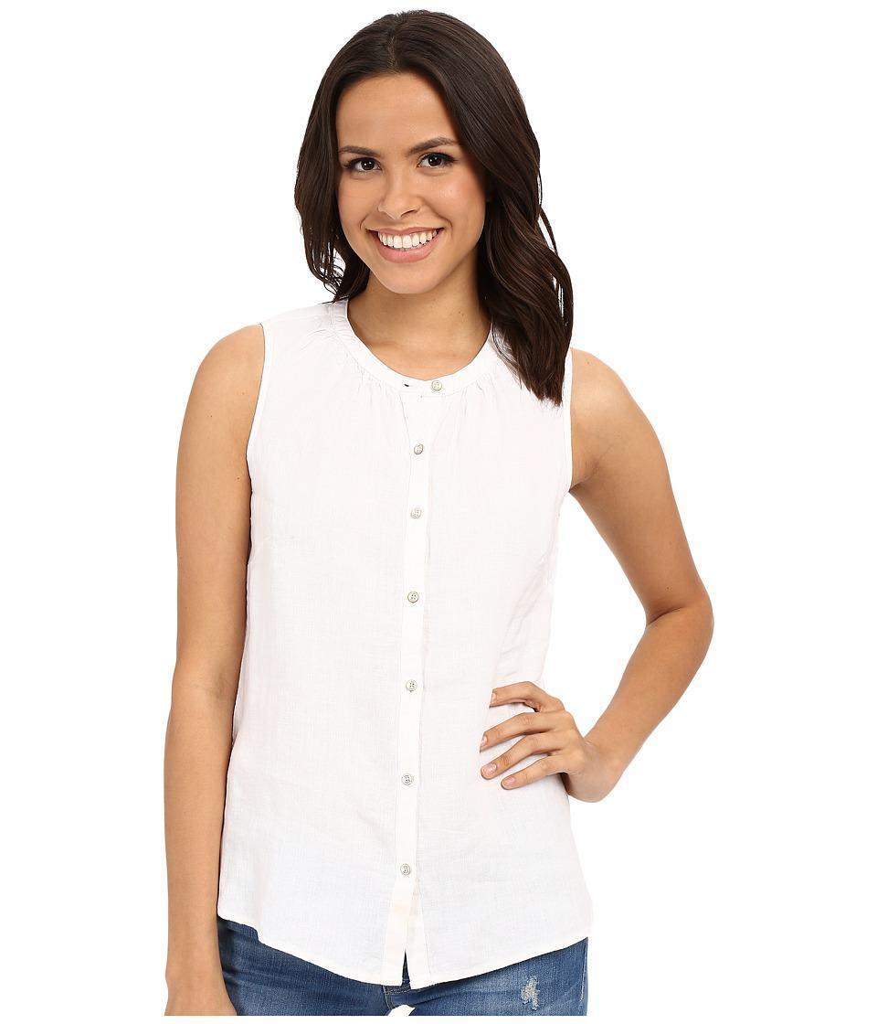 Tommy Bahama - Sunset Chambray Sleeveless Shirt (White) Women's Sleeveless