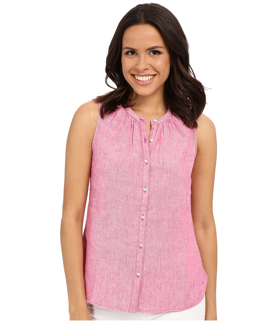 Tommy Bahama - Sunset Chambray Sleeveless Shirt (Dark Luscious) Women's Sleeveless