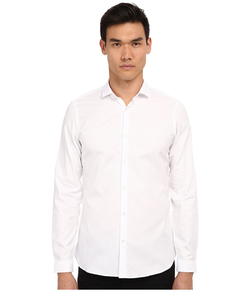 The Kooples - Pique Shirt (White) Men's Long Sleeve Button Up