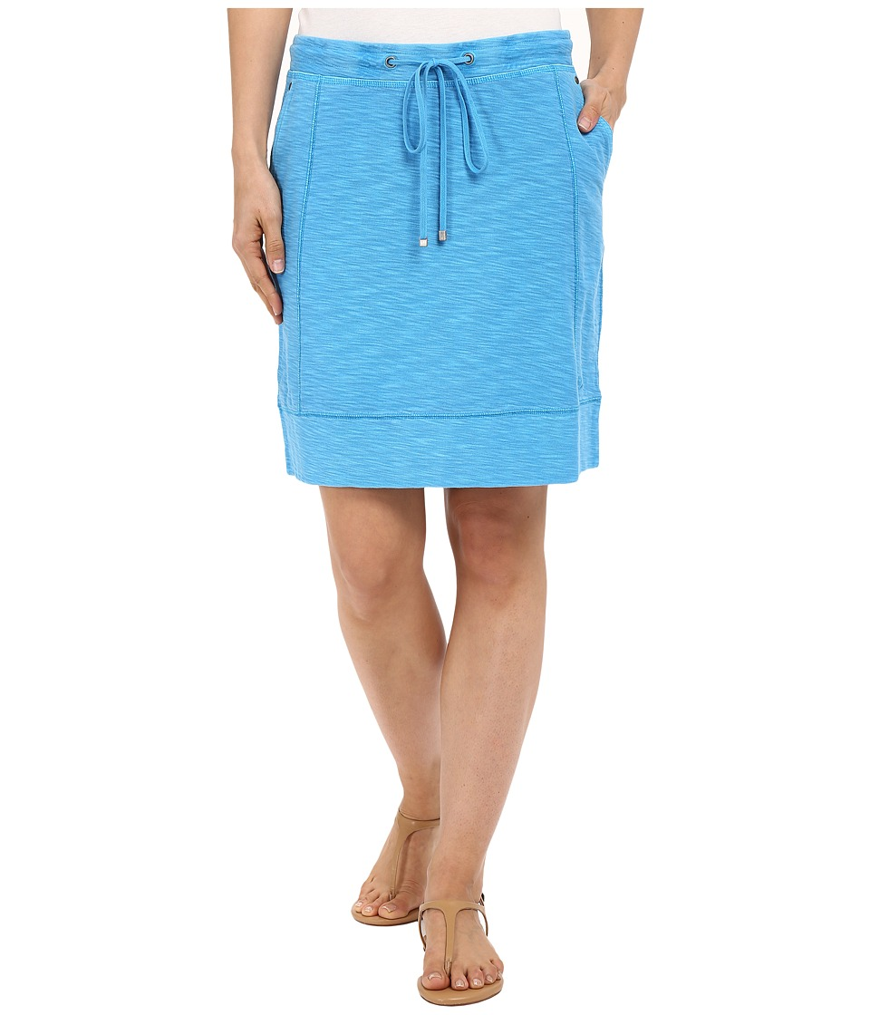 Tommy Bahama Knoll Seamed Short Skirt (Como Blue) Women