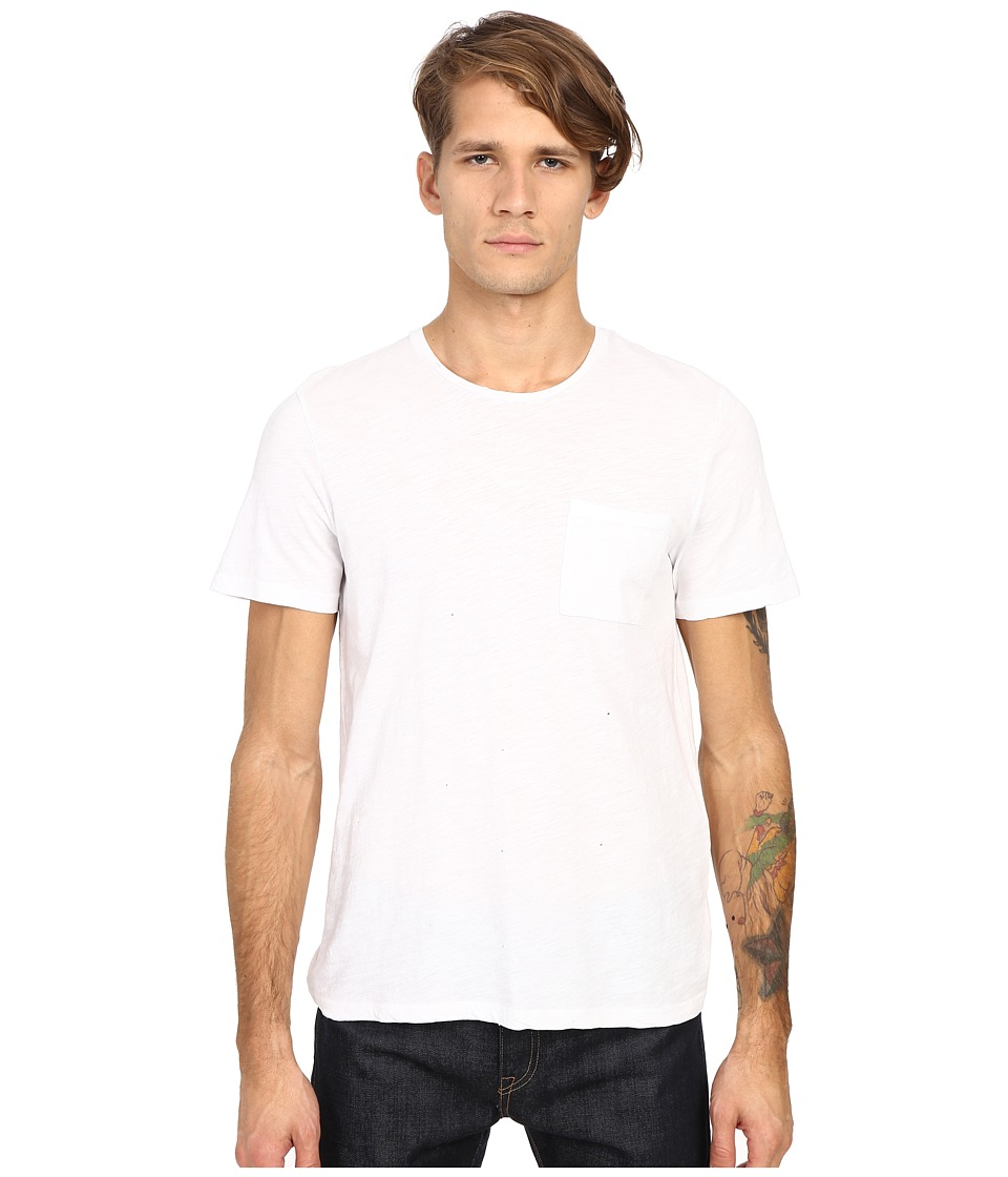 The Kooples - Jersey Flamed Tee Shirt (White) Men's T Shirt
