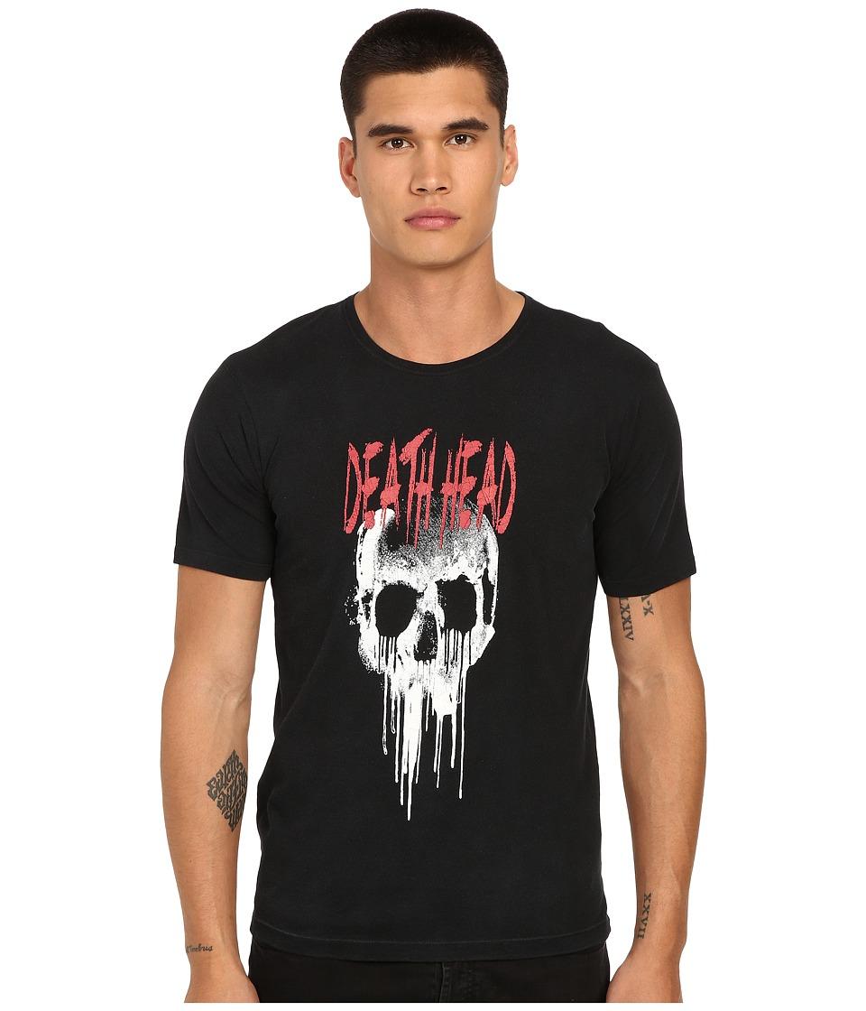 The Kooples - Printed Rugby Jersey Tee Shirt (Black) Men's T Shirt
