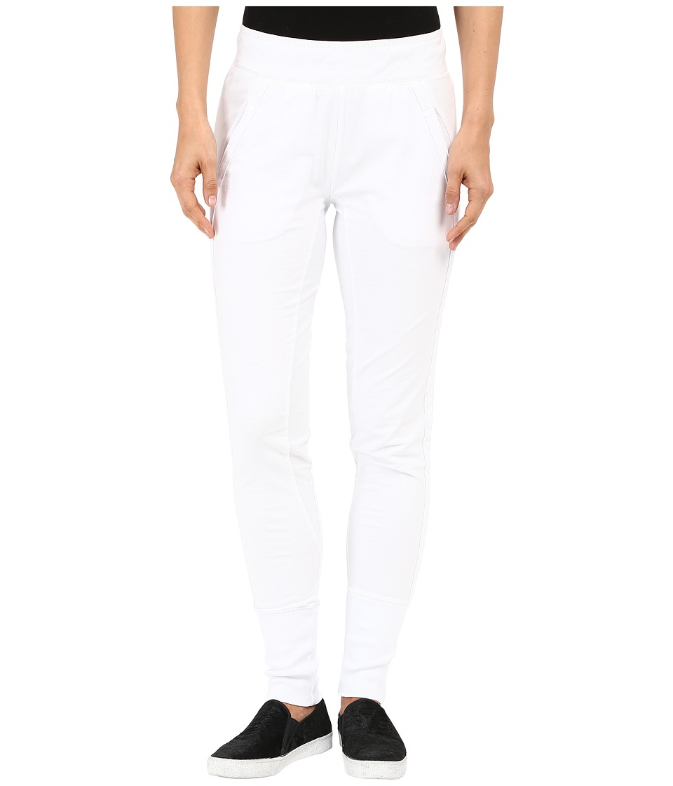 Mod-o-doc - Lightweight Cashmere French Terry Reverse Contrast Sweatpants (White) Women's Casual Pants