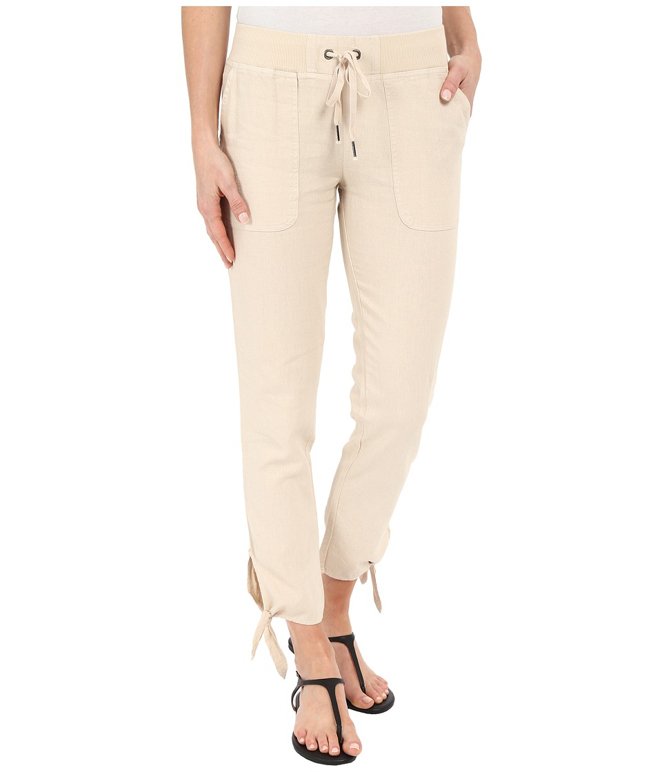 Mod-o-doc - Linen Rayon Ankle Tie Pull-On Pants (Beach Grass) Women's Casual Pants