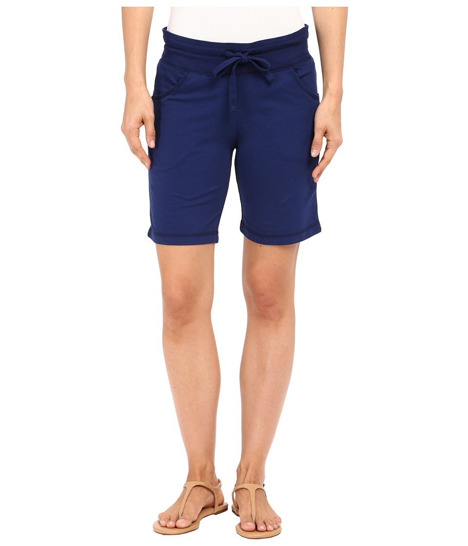 Mod-o-doc - Lightweight Cashmere French Terry Drawstring Pull-On Shorts (Inkwell) Women's Shorts